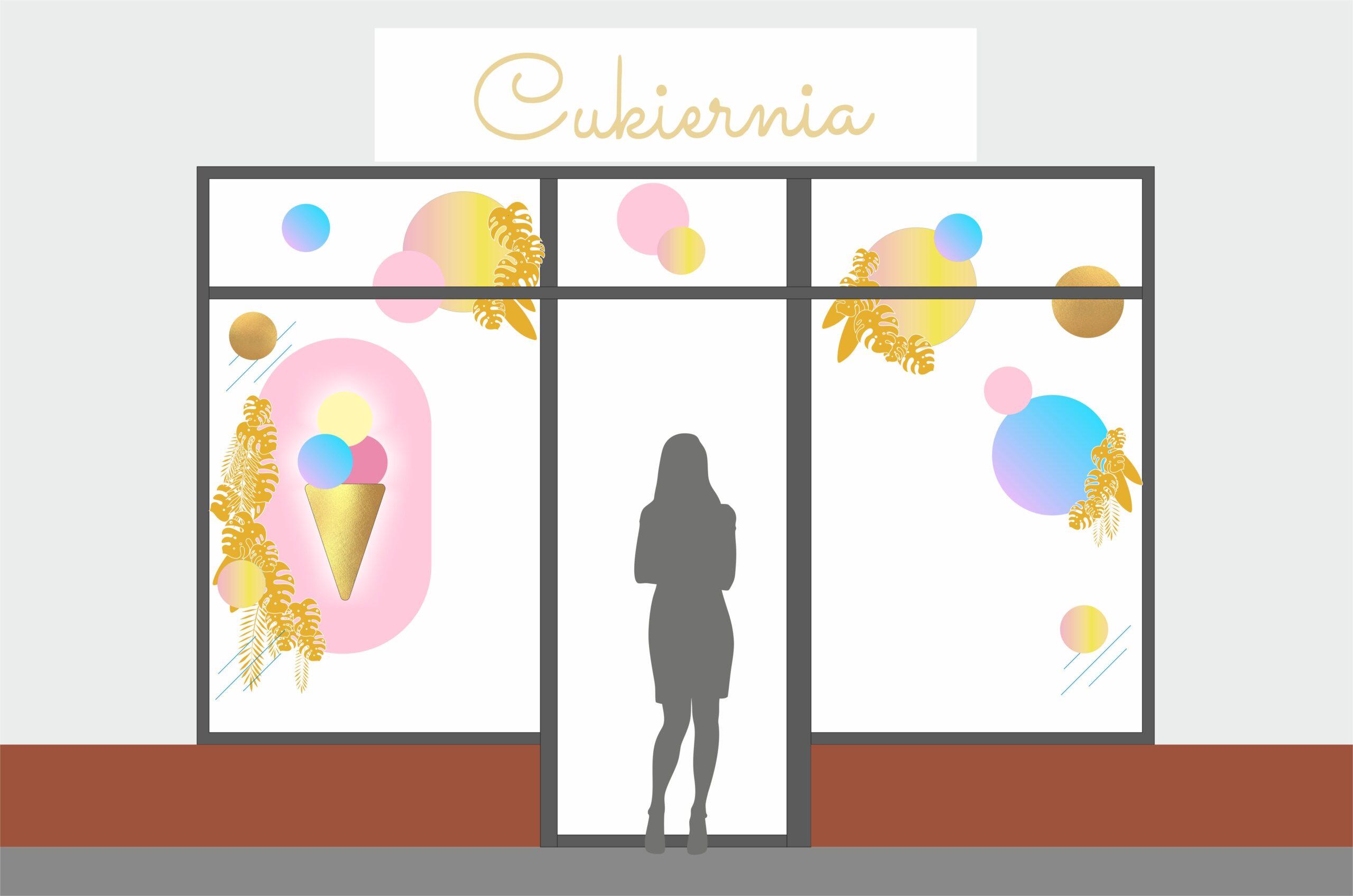 projekt witryny wystawy sklepowej